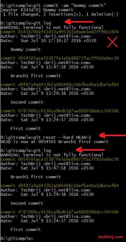 git tutorial exle git commands step by step guide part 2 techbrij