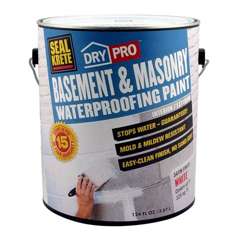 shop seal krete basement masonry waterprooing paint