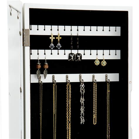 on the wall jewelry armoire amazon com sei photo display wall mount jewelry armoire
