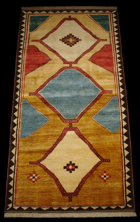 What Is A Gabbeh Rug by Qashqai Gabbeh Rug With Three Hexagonal Medallions
