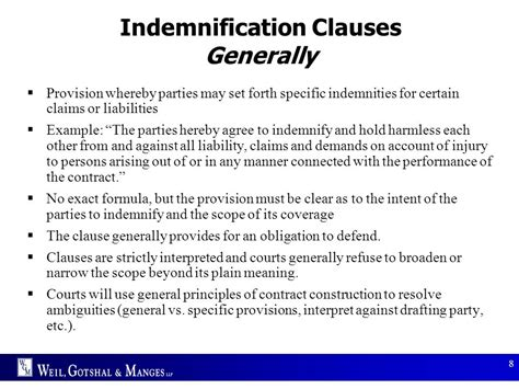 indemnity clause template indemnity clause template 28 images risk allocation in
