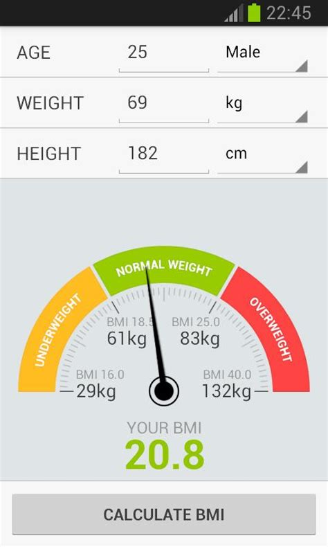 calculator weight bmi weight calculator android apps on google play