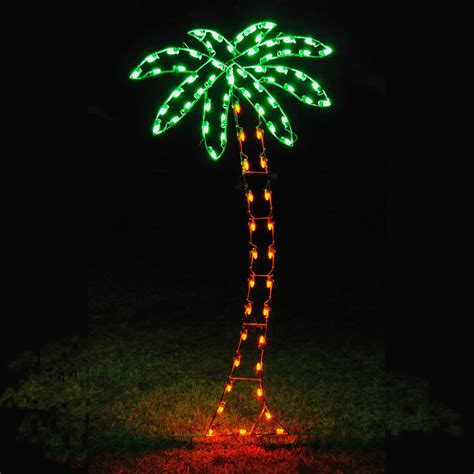 holiday lights led palm tree light display 8 8 h