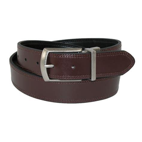 mens leather reversible jean belt by dickies casual