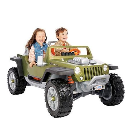 Toys R Us Jeep Power Wheels Traction Jeep Hurricane Green