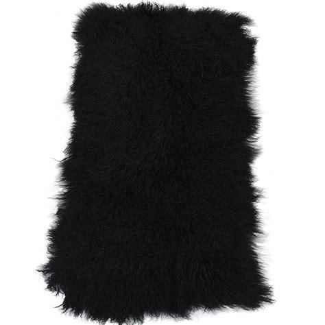 mongolian fur rug mongolian fur rug black curly hair