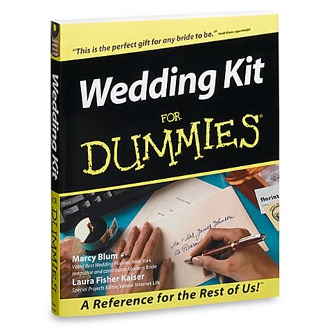 Wedding Planner For Dummies by Wedding Kit For Dummies 174 Bed Bath Beyond
