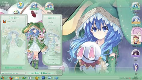 Download Theme Windows 7 Yoshino Date A Live | win7 theme date a live v18 yoshino themes anime