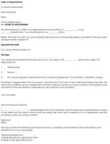 Appointment Letter Format Designation Change Employee Appointment Letter Format Word Online Business Template