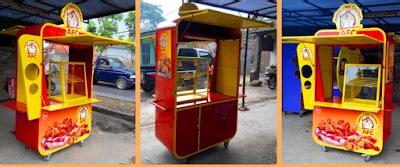 contoh desain rombong etalase gerobak outlet