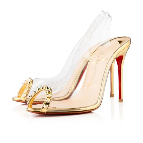 Shoes Christian Louboutin Luxury Gold Po20 christian louboutin ring my toe 80mm slingbacks gold cl 00131 152 00 louboutin outlet