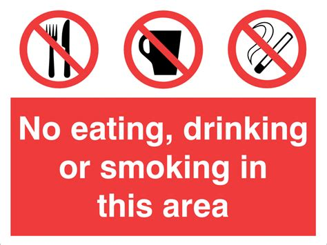 eating and drinking area safety signs signstoyou com image gallery no drinking or smoking