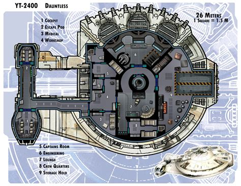 star wars ship floor plans yt 2400 dauntless by thedarkestseason deviantart com on