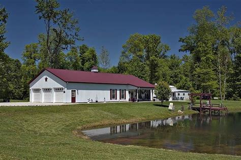 live in barn plans pole barns living quarters pole buildingswith living