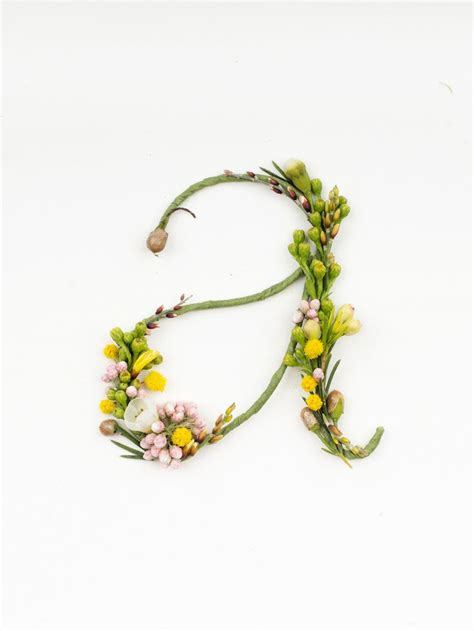 Cb Typografy letters made out of flowers uch so inspired with what