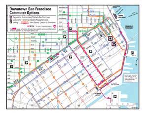 Map Of Downtown San Francisco by San Francisco Muni System For Pinterest