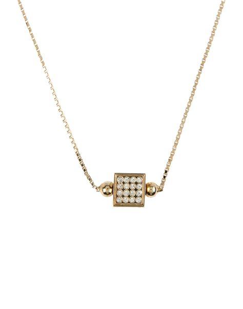 fendi necklace in metallic lyst