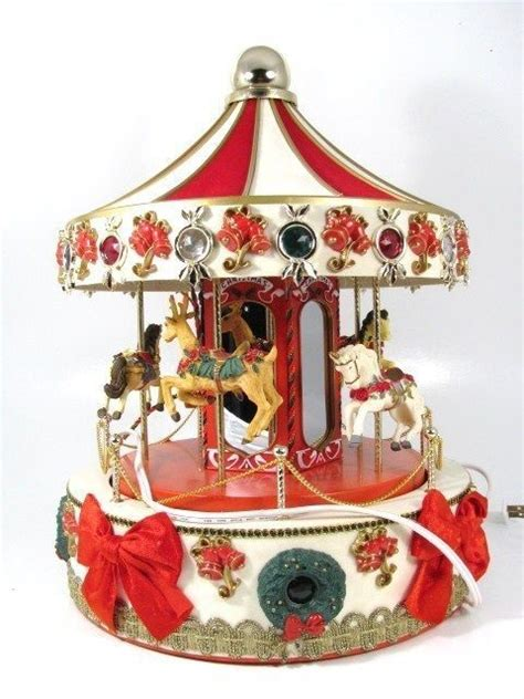 best christmascarpusel workshop 16 quot carousel merry go musical animated lighted my vintage