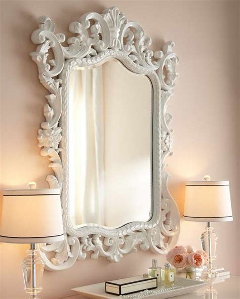 decoration baroque mirror white attractive decoration
