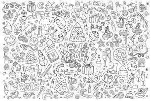 doodle happy new year 2016 by balabolka doodling