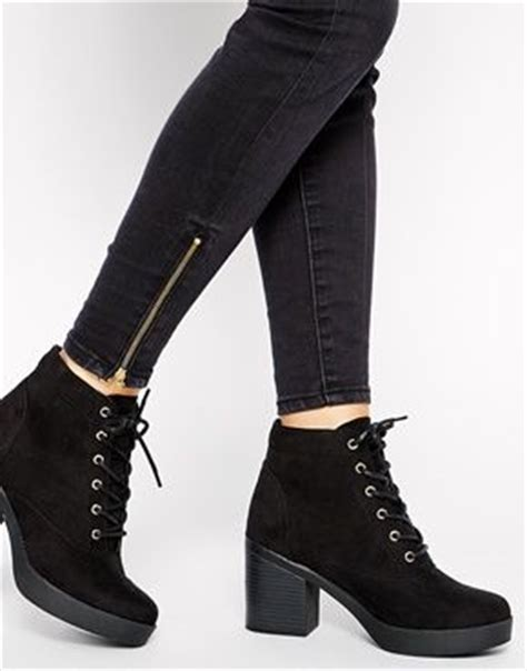 enlarge new look carnaby lace up heeled boots fall 14