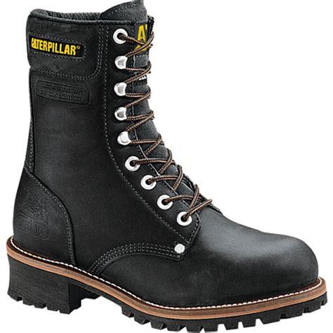 caterpillar logger 9 steel toe mens work boot black