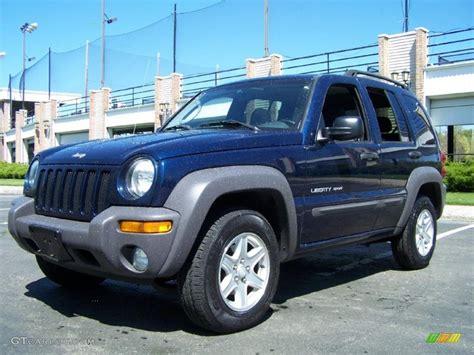 liberty colors 2003 patriot blue pearl jeep liberty sport 4x4 49136036