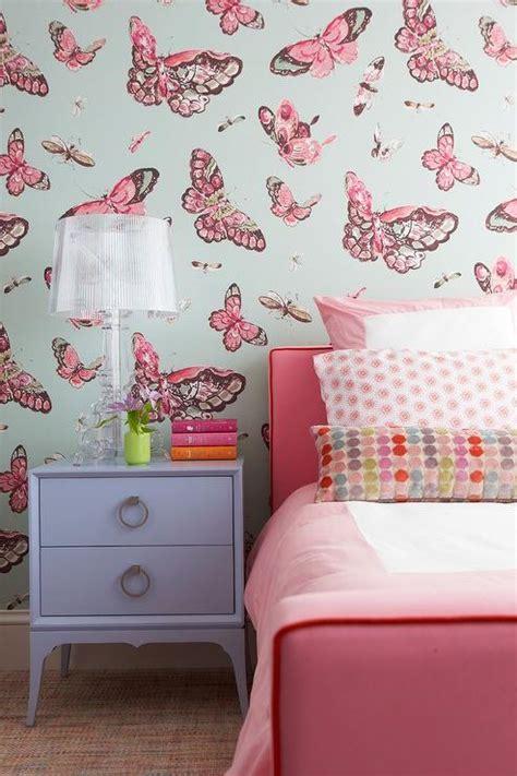 pink butterfly bedroom elizabeth jardine butterfly art over white mirrored