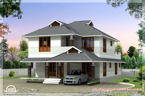 Kerala Home Design Kozhikode 1760 Sq Beautiful 4 Bedroom House Plan Curtains
