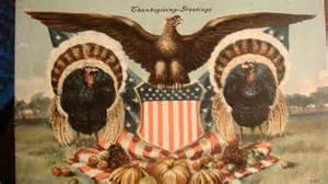 patriotic thanksgiving 1908 signed postcard american eagle