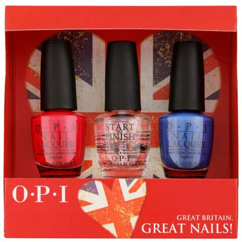 opi exclusive british nail gift set free delivery