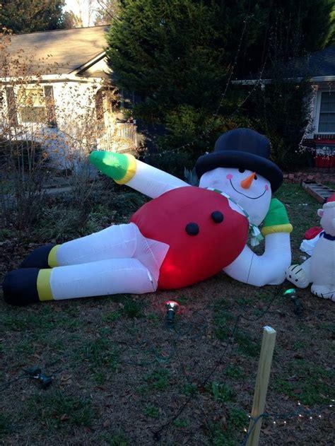 yard inflatables yard quot quot snowman snowman
