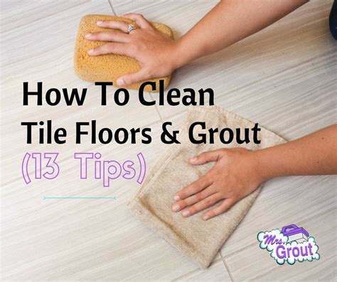 clean tile floor grout  tips  printable  grout