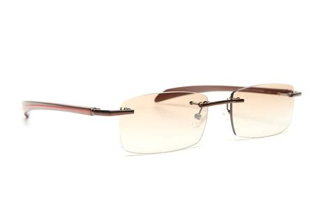 gold and wood rimless eyeglasses glasses sunglasses 81a