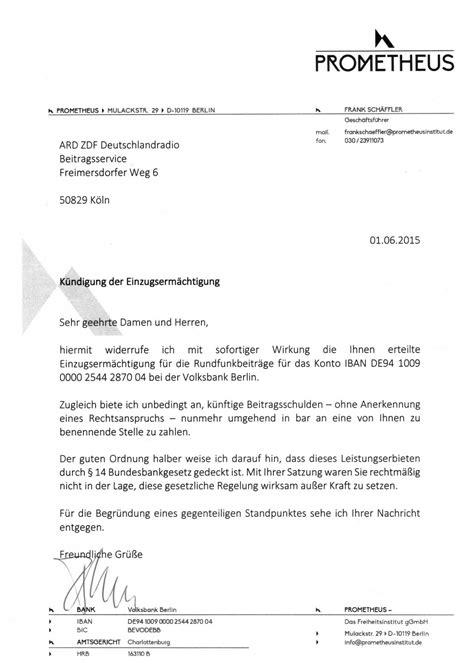 Musterbrief Gez Bar Rundfunkbeitrag Bar Zahlen Zwangsbeitrag Nein Danke