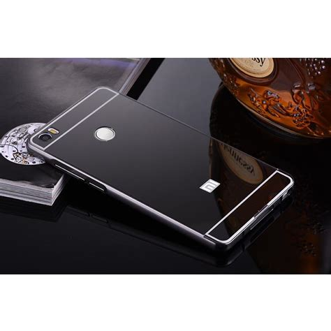 Mirror Bumper Aluminium With Backcase For Xiaomi Mi Max 1 aluminium bumper with mirror back cover for xiaomi mi max black jakartanotebook