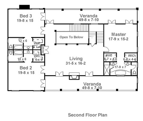 Charleston Floor Plan | charleston 1836 4 bedrooms and 4 baths the house designers
