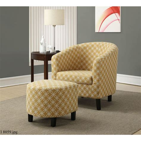 sofa and accent chair set monarch specialties burnt yellow cotton arm chair with