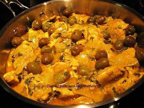 cuisine marocaine poulet aux olives recette de poulet marocain aux olives