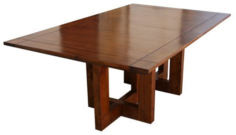 metro modern extension trestle dining table handmade in our