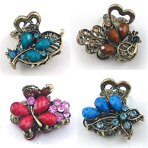 Rhinestone Retro Hair Clip sales promotion mixed new fashion alloy rhinestone hair