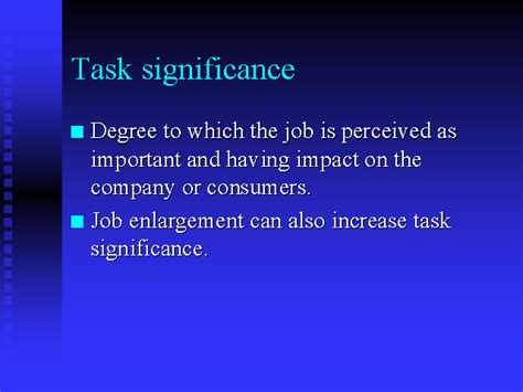 Task L by Task Significance