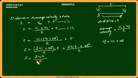 online tutorial of physics lecture 017 kinematics part 4 equations of motion physics