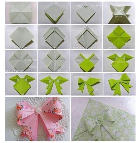 Origami With Ribbon - origami ribbon diy stuff