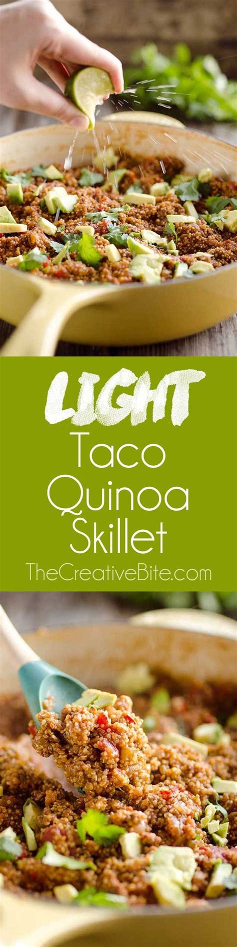 light and healthy dinners light taco quinoa skillet recipe skillets tacos and