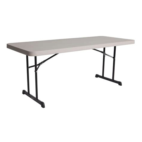 lifetime tables home depot lifetime putty banquet folding table 80126 the home depot