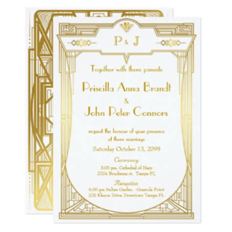 Wedding Invitations Great Gatsby by Great Gatsby Wedding Invitations Announcements Zazzle