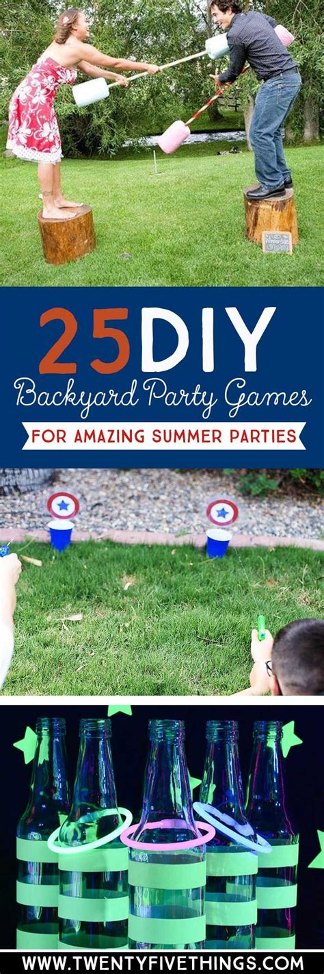backyard birthday party games 25 diy backyard party games for the best summer party ever