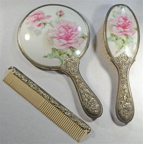 Set Comb Mirror vintage vanity set includes mirror brush and comb