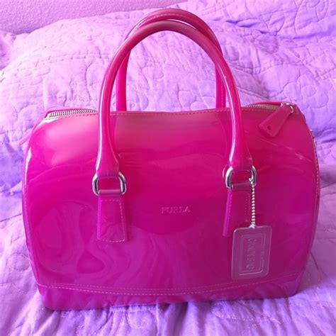 Furla Jelly Bag Preloved 68 furla handbags gently loved fuchsia jelly furla bag from lida s closet on